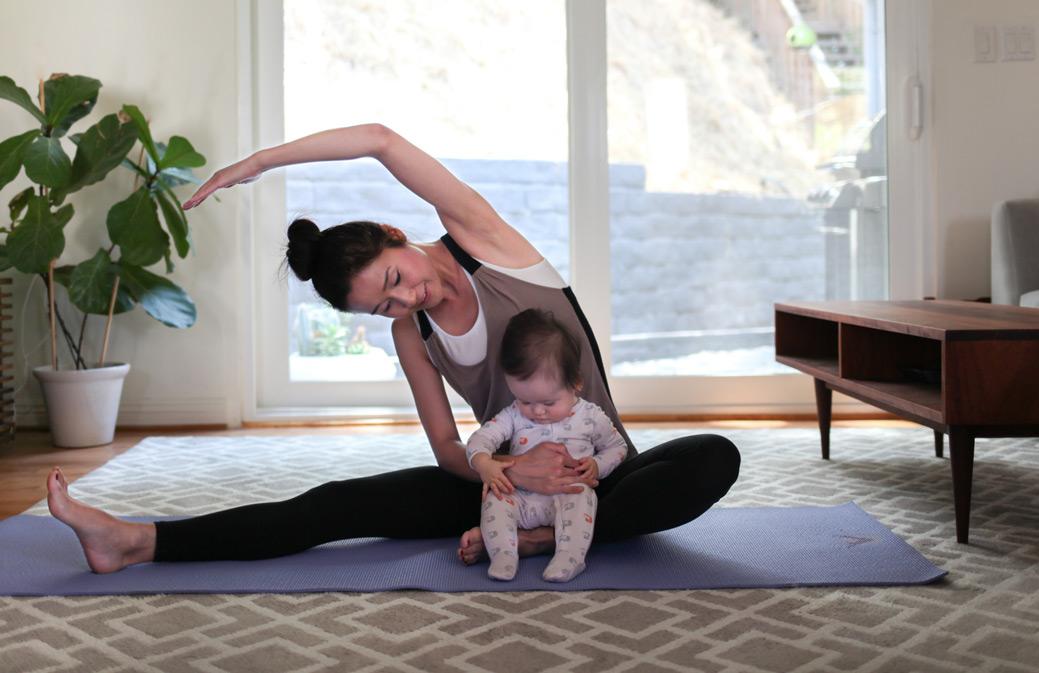 Pilates workshop with child